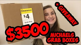 CRAZY UNEXPECTED MICHAELS GRAB BAG UNBOXING $3500 FOR $12 + GIVEAWAY | Savvy Steph