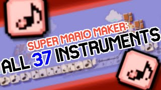 Super Mario Maker: All Instruments for Note Blocks
