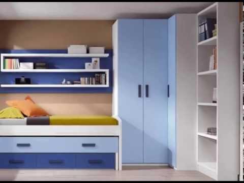 Dormitorios infantiles con armarios normales y en esquina for Dormitorios juveniles con armario esquinero