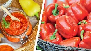 Болгарский Перец + Помидоры = вкуснейший ТОМАТНЫЙ СОУС🍴Эта заготовка НА ЗИМУ - пальчики оближешь!