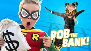 BATMAN ROB the BANK game for kids! | KIDCITY