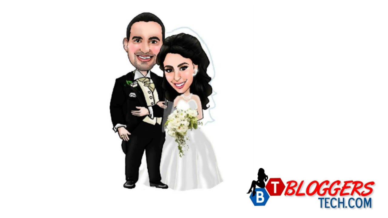 Custom Caricatures - Add Something Unique on Your Wedding Day - YouTube