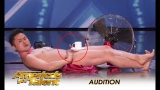 vuclip The Naked Man From Japan Performs TRADITIONAL Naked Act! | America's Got Talent 2018