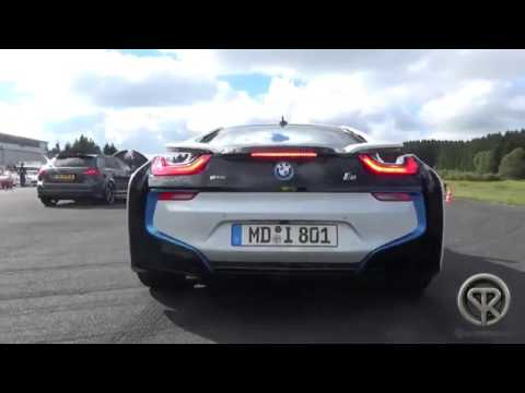 Drag Race Bmw I8 Vs Audi R8 V8 Youtube