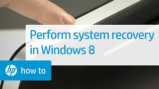 Performing an HP System Recovery on HP Desktops 2014 and Newer in Windows 8 | HP Computers | HP