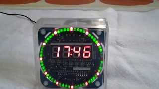 Diy At89s52 Rotation Led Electronic Bluetooth Protocol 2.0 Control Clock Kit From Banggood
