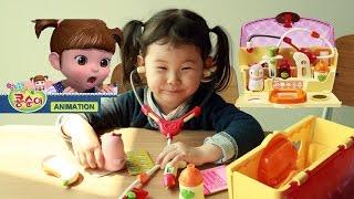 콩순이 펭이와 말하는 청진기 병원놀이 2탄~ Hospital  Playset Unboxing おもちゃИгрушки 라임튜브