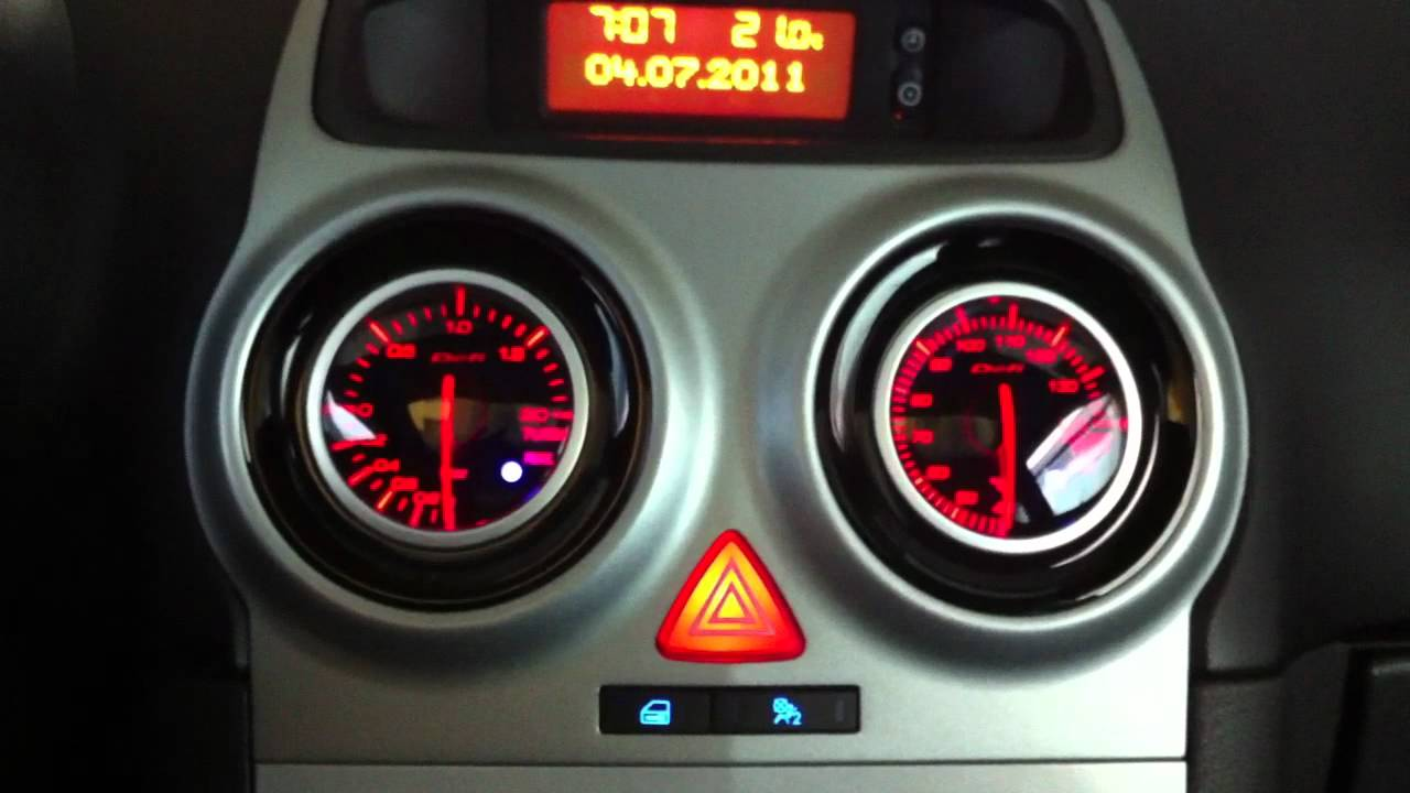 Opel corsa d illuminazione interna a led blu manometri defi bf