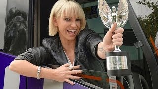 Sarah Harding Joins Pride Of Britain Bus Tour To Nominate Incredible Support Dog Volunteers!!!