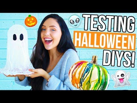 Testing Weird Halloween Diys And Treats Crazy Pinterest Recipes Diy Hacks Tested