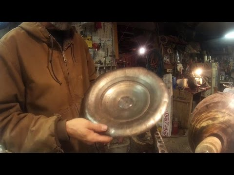 Metal Spinning with home made tools 1