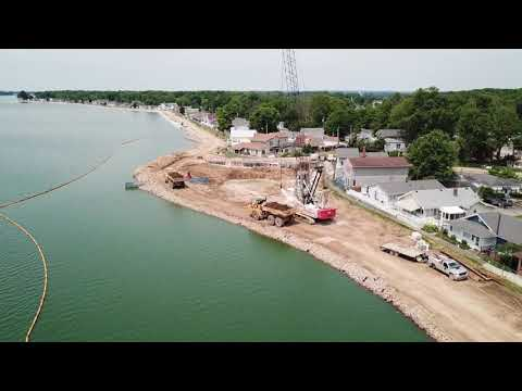Buckeye Lake dam reconstruction