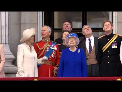 Trooping The Colour Flypast 2013 with the Band of the Royal Irish (HD)