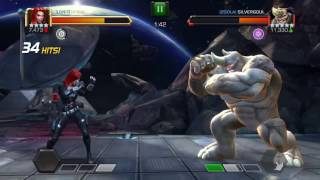 Marvel contest of champions AW legion vs 2Sola fights unblockable special 1 and 2 thorns path 5* r4