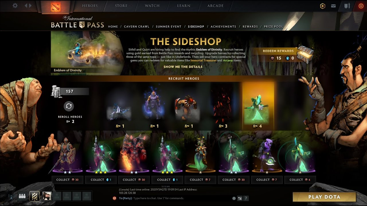 Dota 2 Side Shop Battle Pass