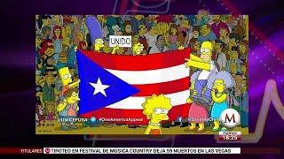 Los Simpson se suman al apoyo de Puerto Rico