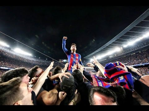 VIDEO: Barcelona vs PSG [6-1] : Lionel Messi Reaction to Barcelona's 6th goal with the fans