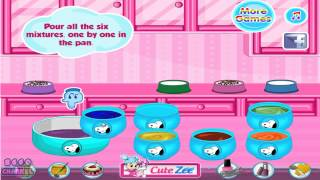 Snoopy's Rainbow Clown Cake - Great Cooking Game For Kids