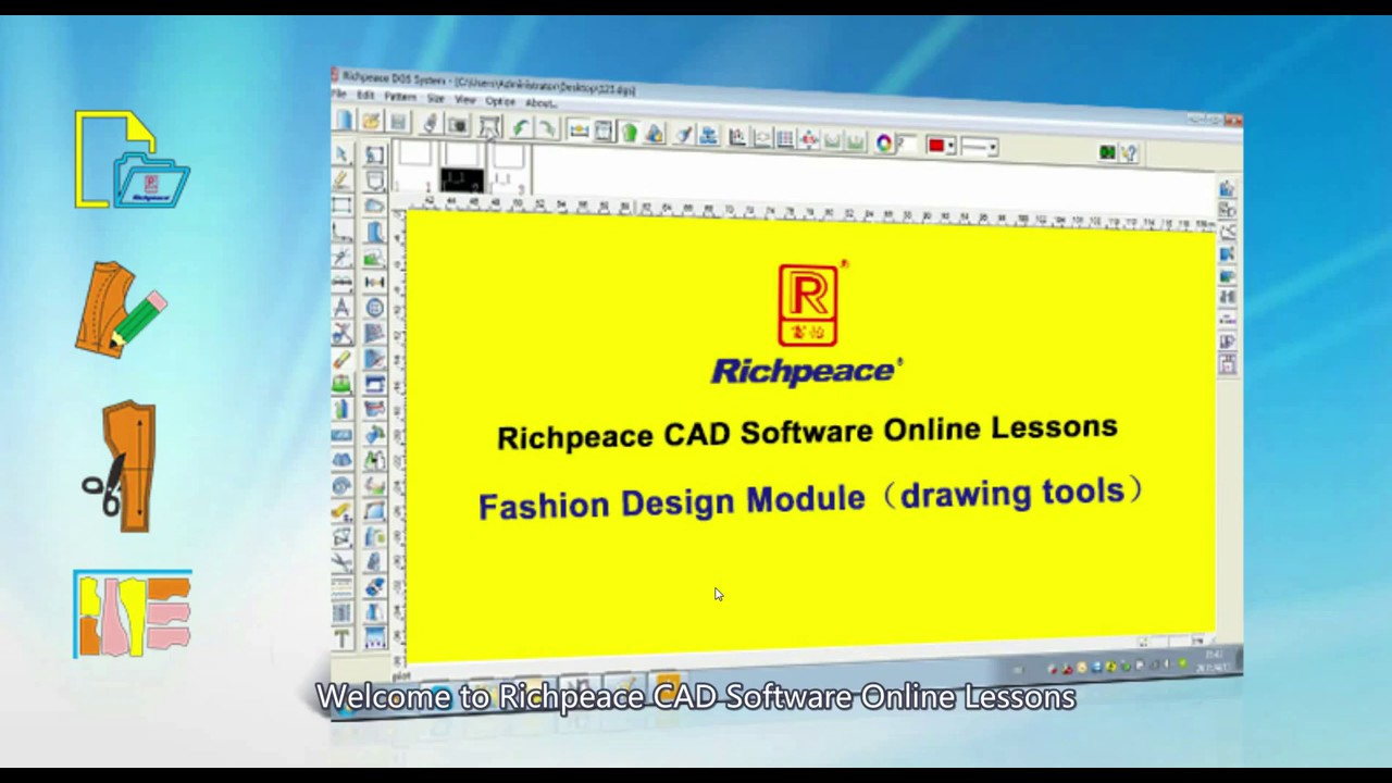 Richpeace Cad Software Online Lessons Tip Of The Day Fashion Design Module Drawing Tools V10 Youtube