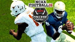 NCAA Football 16 | Texas at (11)Norte Dame! | NCAA College Football Is Back!!