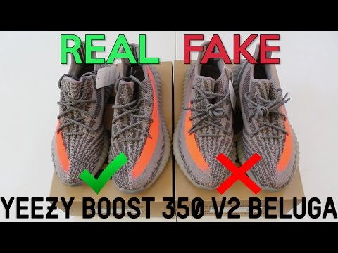 2ce730bad8e YEEZY BOOST 350 V2 BELUGA Real Vs. Fake (LEGIT CHECK) - YouTube