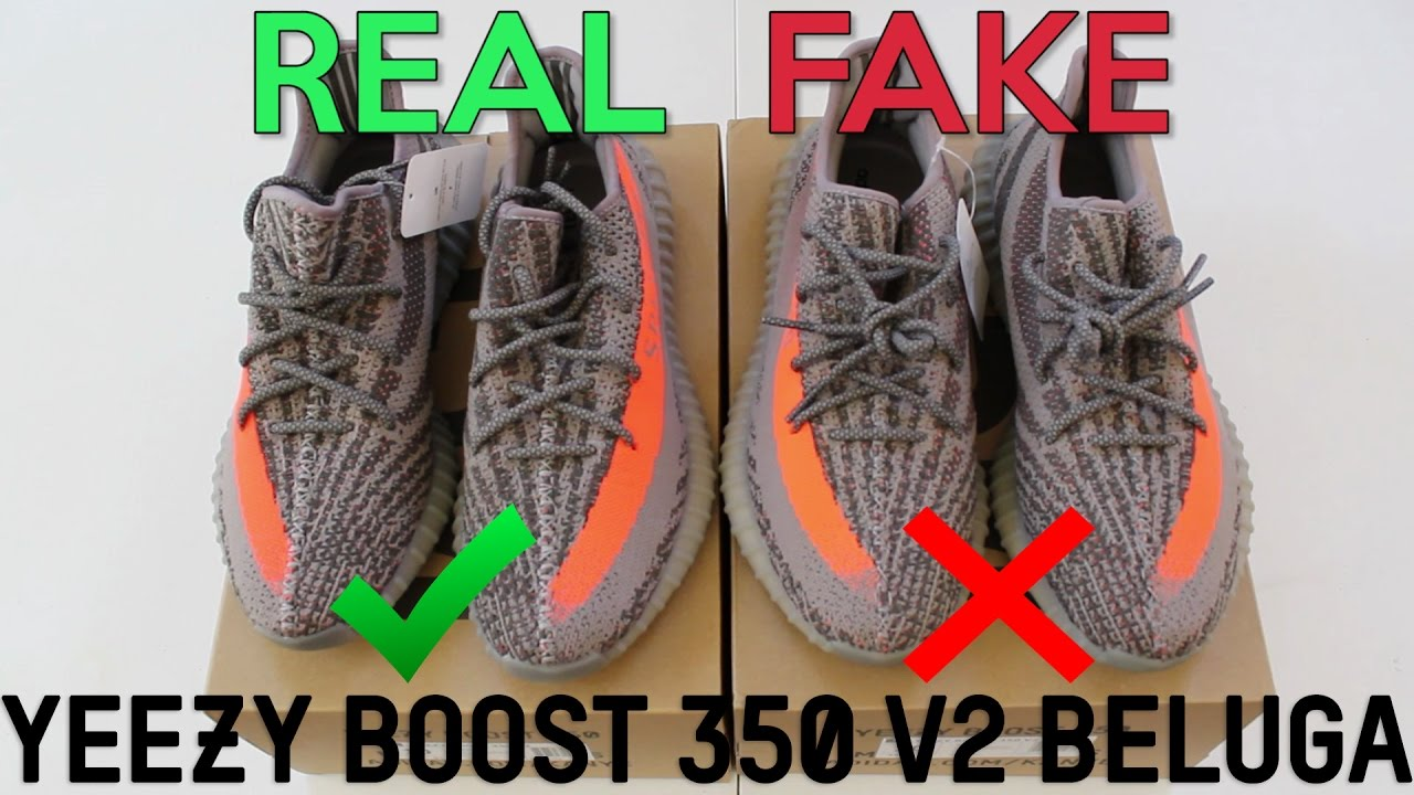 reputable site 306d7 0a046 YEEZY BOOST 350 V2 BELUGA Real Vs. Fake (LEGIT CHECK)