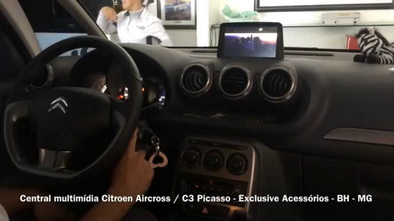 central multim dia citroen c3 picasso exclusive acess rios bh mg youtube. Black Bedroom Furniture Sets. Home Design Ideas