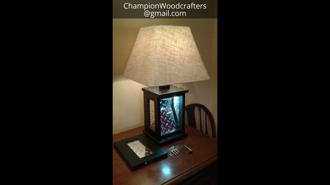 Tactical Lamp, Man Cave Edition By Champion Woodcrafters