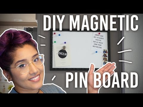 How to Make a Magnetic Pin Board - DIY