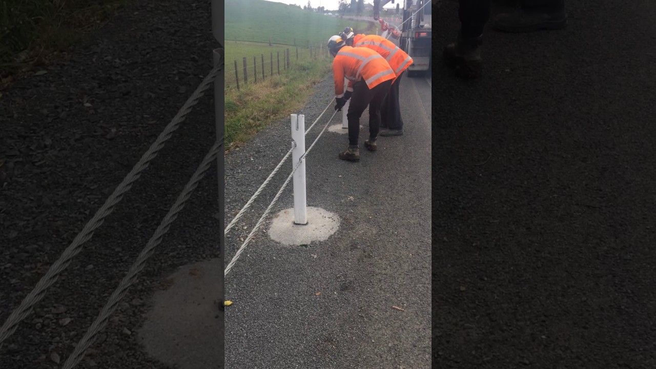 Wire rope installation - YouTube