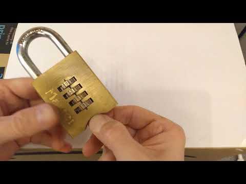 Master Lock 651D  *4 Digit Code* Combination Padlock