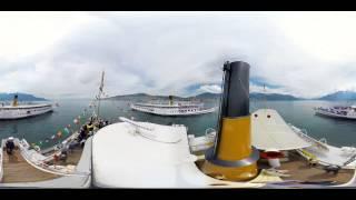 WOOW! Панорамное видео 360 градусов, прогулка на теплоходе, пароходе по воде(Больше видео ▻▻▻ https://vk.com/panoramnoevideo360 ◅◅◅ Морское плавание на воде для очков виртуальной реальности YesVR,..., 2015-09-08T09:59:31.000Z)