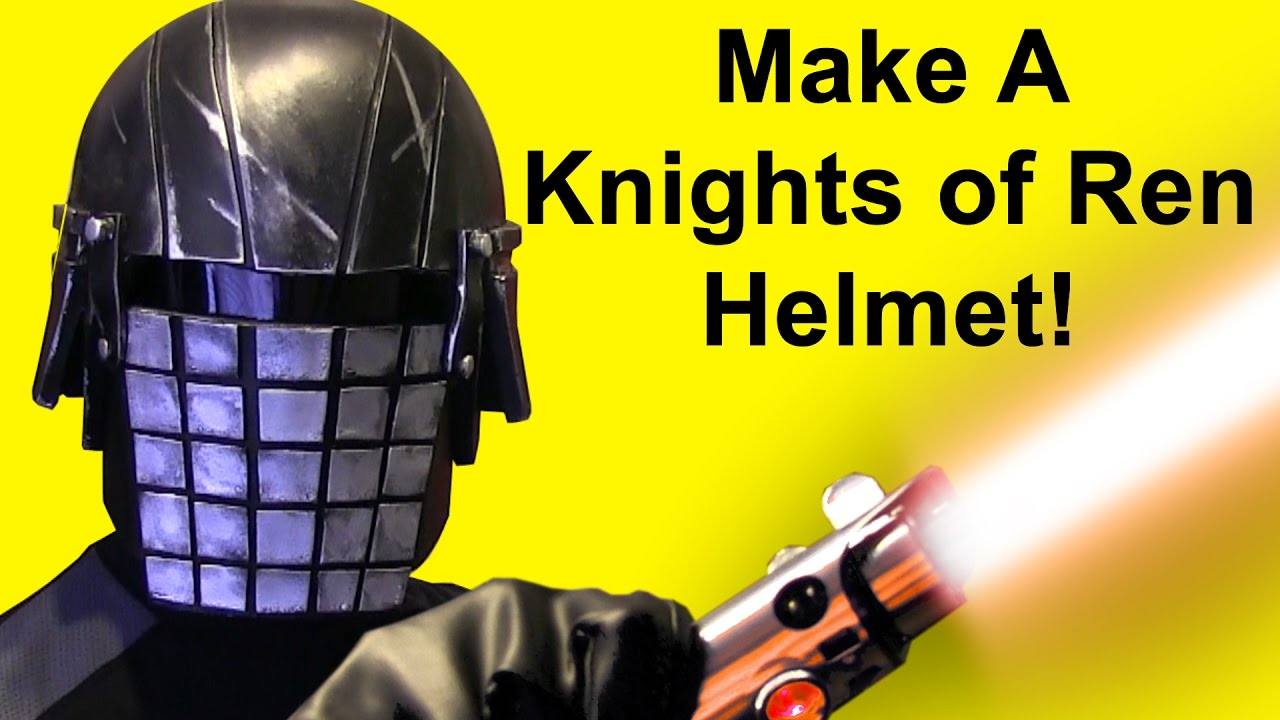 how to make a knights of ren helmet grenade face diy youtube