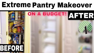 PANTRY ORGANIZATION | PANTRY CLEAN OUT AND MAKEOVER SPENDING LESS THAN $50 | WORKING PANTRY