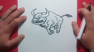Como dibujar un toro paso a paso 3 | How to draw a bull 3