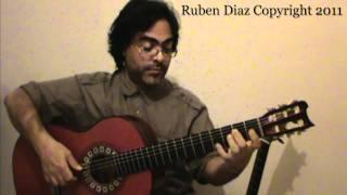 Tico-Tico Melody 4 Rumba Interactive Guitar Lesson / 78 bpm Ruben Diaz Flamenco GFC Malaga
