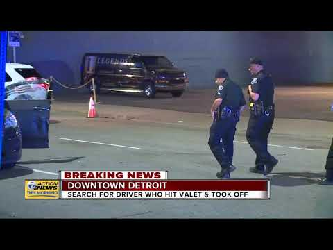 Search For Driver Who Hit Valet Attendant And Took Off In Downtown Detroit