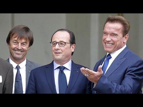 France: Hollande hosts eco-warrior Schwarzenegger for climate talks