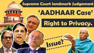 """""""Aadhaar Case""""   Right to Privacy   Supreme Court Landmark Judgement   K.S. Puttaswamy Case."""