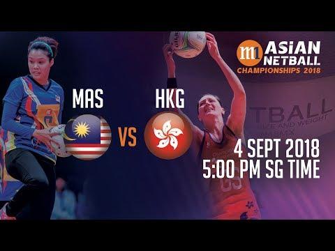🔴 Malaysia 🇲🇾 vs 🇭🇰 Hong Kong | Asian Netball Championship 2018