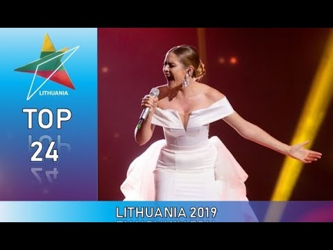 Eurovision 2019 Lithuania Top 24 Of Semi Finals