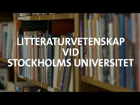 Litteraturvetenskap vid Stockholms universitet