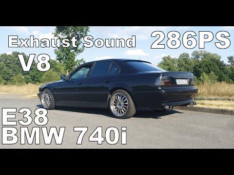 BMW 740i E38 Brutal Sound Exhaust Sounds V8 Engine Sounds M62B44