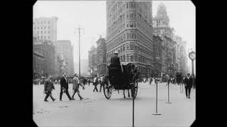 1911 New York City retro кинохроника