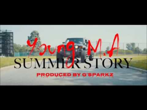 Young MA- Summer Story Instrumental prod  by G'Sparkz  (OFFICIAL AUDIO)
