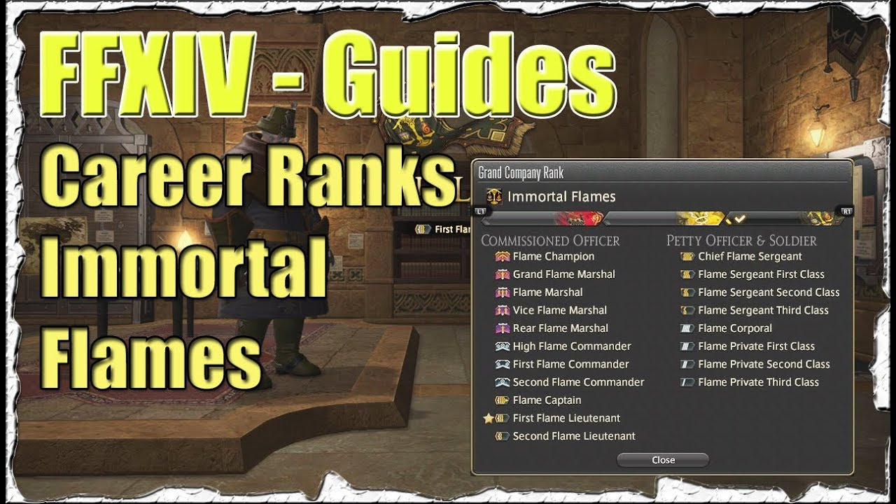 FFXIV How to Rank Up to First Lieutenant Guide