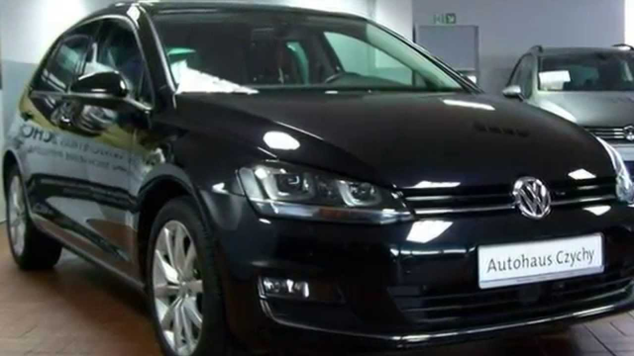 volkswagen golf vii 1 4 tsi act highline ew061044 deep black perleffekt autohaus czychy youtube. Black Bedroom Furniture Sets. Home Design Ideas