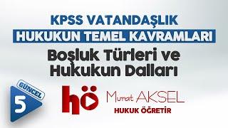 Hukukun Temel Kavramlari 5 ( Boşluk Türleri ve Hukukun Dalları ) - Murat AKSEL