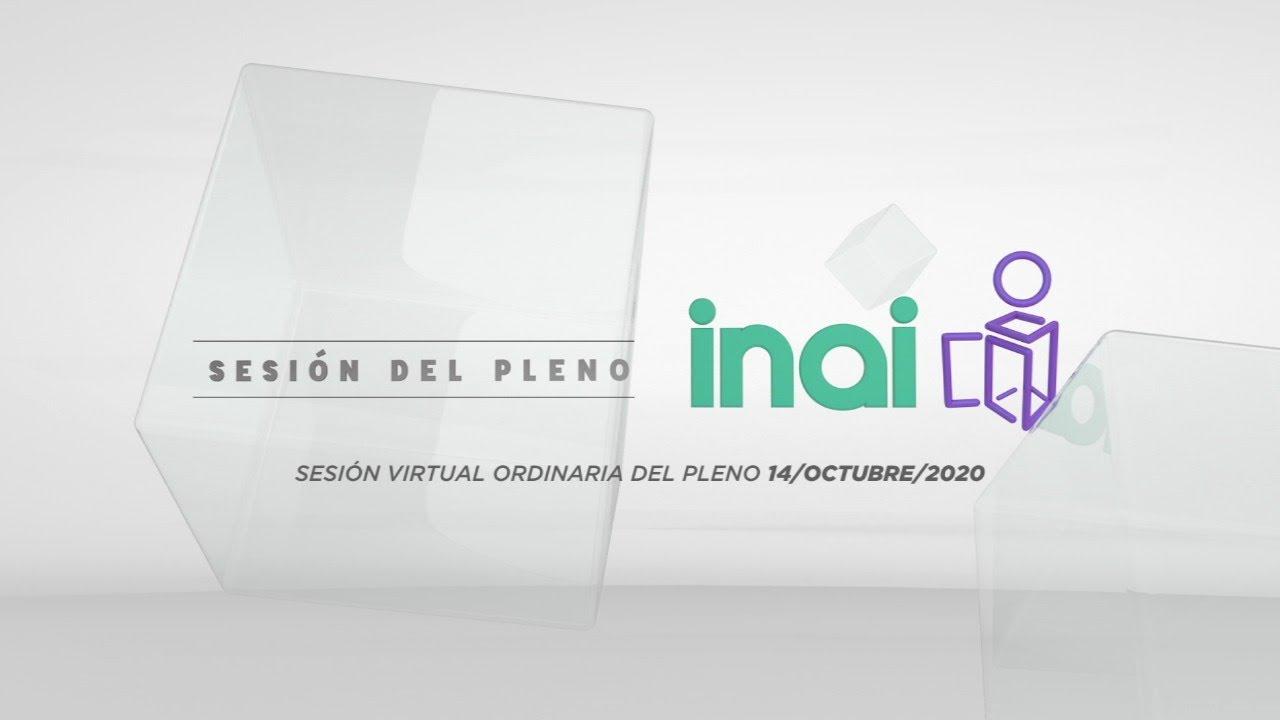 Sesión pública virtual del 14 de octubre de 2020