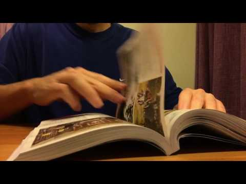 ASMR - Page turning and finger licking - Paper, magazine and leaflets -  no talking